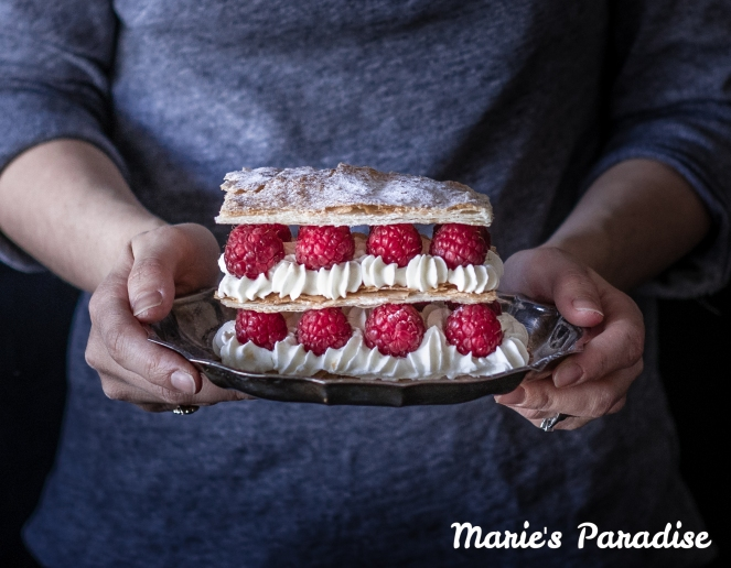 Raspberry millefeuille-1